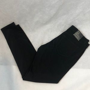 Banana Republic sateen black skinny pants 8 new
